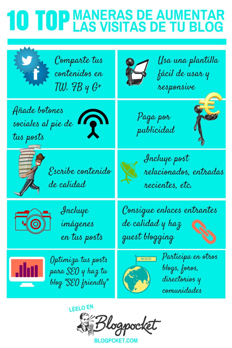 101-aumentar-visitas-blog-INFOGRAFIA Cómo conseguir un blog profesional: 11 infografías