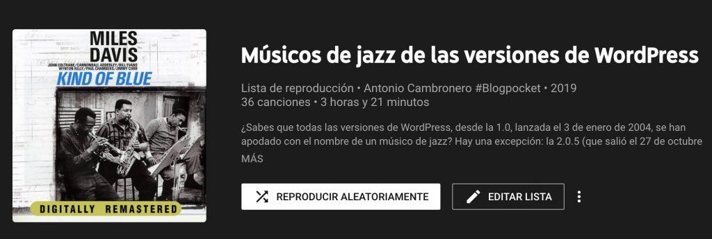 lista-reproduccion-jazz-1024x345 Todos los músicos de jazz de las versiones de WordPress