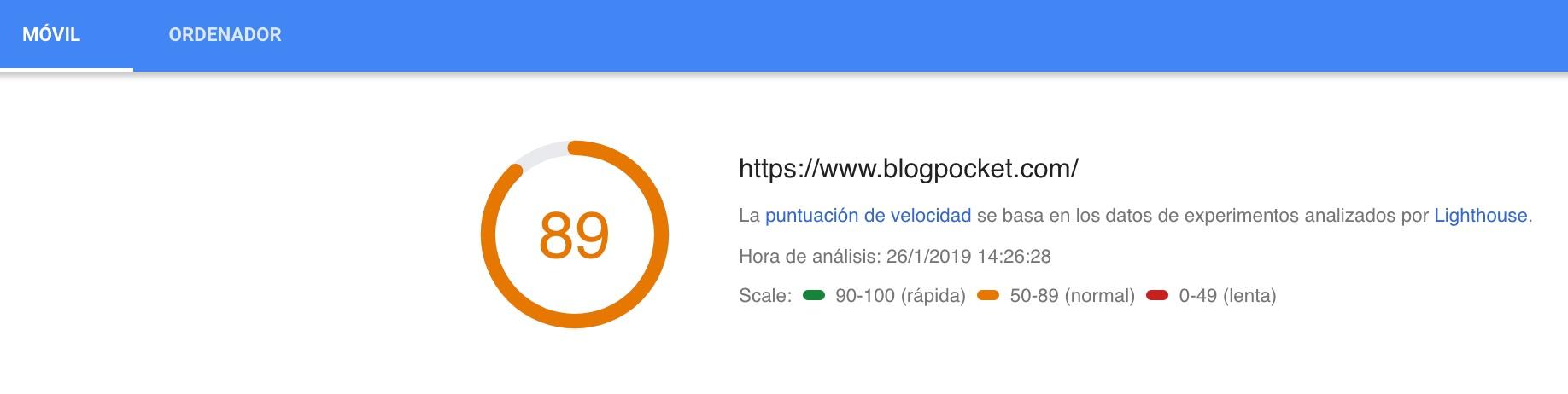 PageSpeed_Insights-blogpocket-1 Mantenimiento de WordPress: la guía definitiva para cuidar tu blog