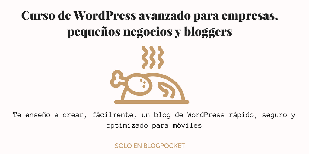 Crear un blog de WordPress - Banner Curso de WordPress avanzado