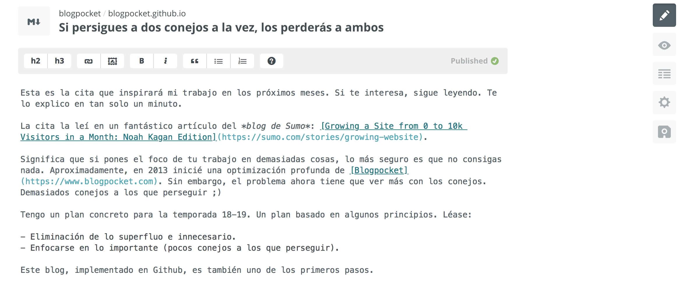 editor-prose-io Cómo tener un blog con GitHub y Jekyll, fácilmente y en dos minutos