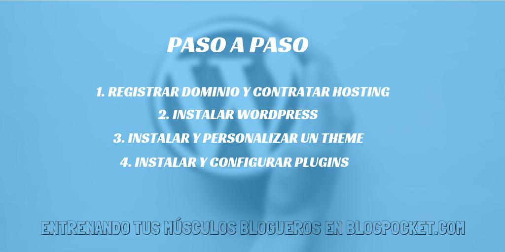PASOS-HACER-SITIO-WEB-WORDPRESS Cómo hacer un sitio Web de WordPress en 15 minutos (o menos) - Videotutorial (paso a paso) - 2018