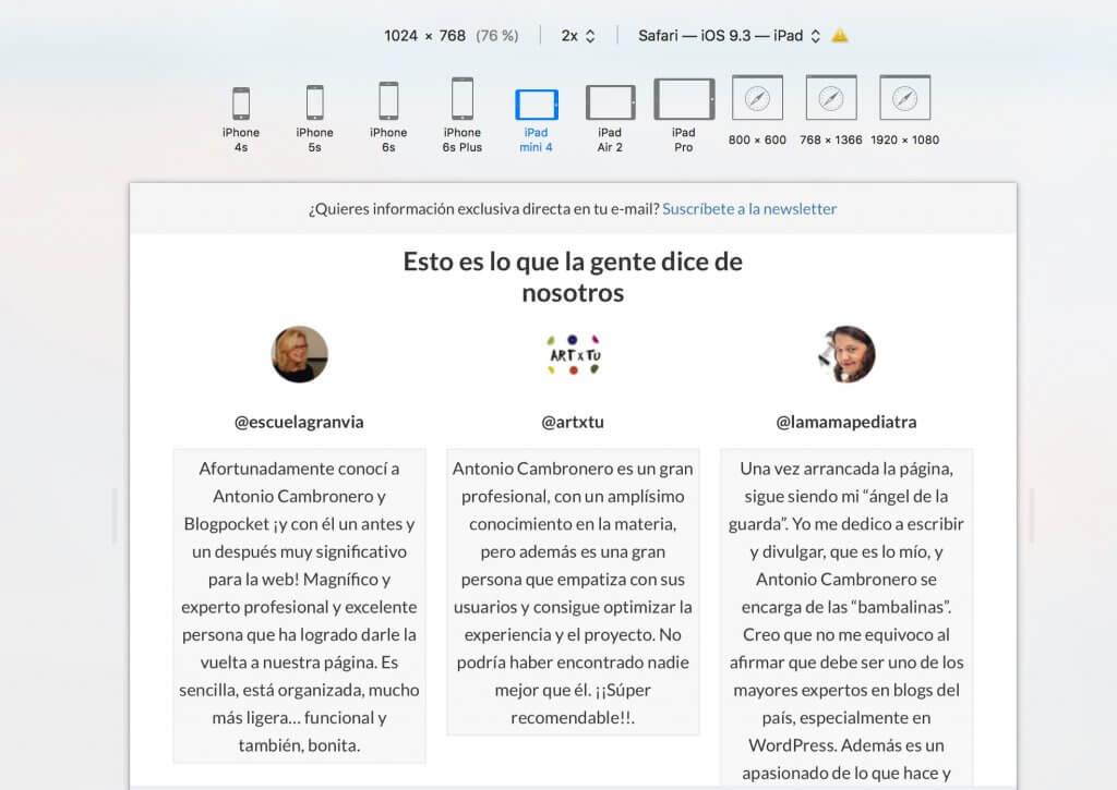 ver-web-safari-1024x725 Cómo crear bloques div HTML, fácil y sin Gutenberg - Videotutorial y PDF