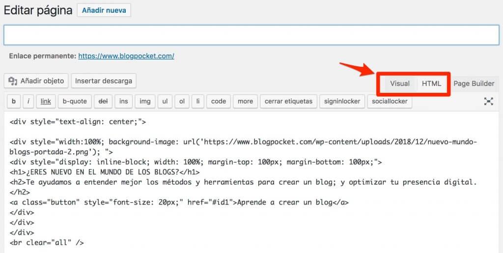 visual-html-1024x515 Cómo crear bloques div HTML, fácil y sin Gutenberg - Videotutorial y PDF