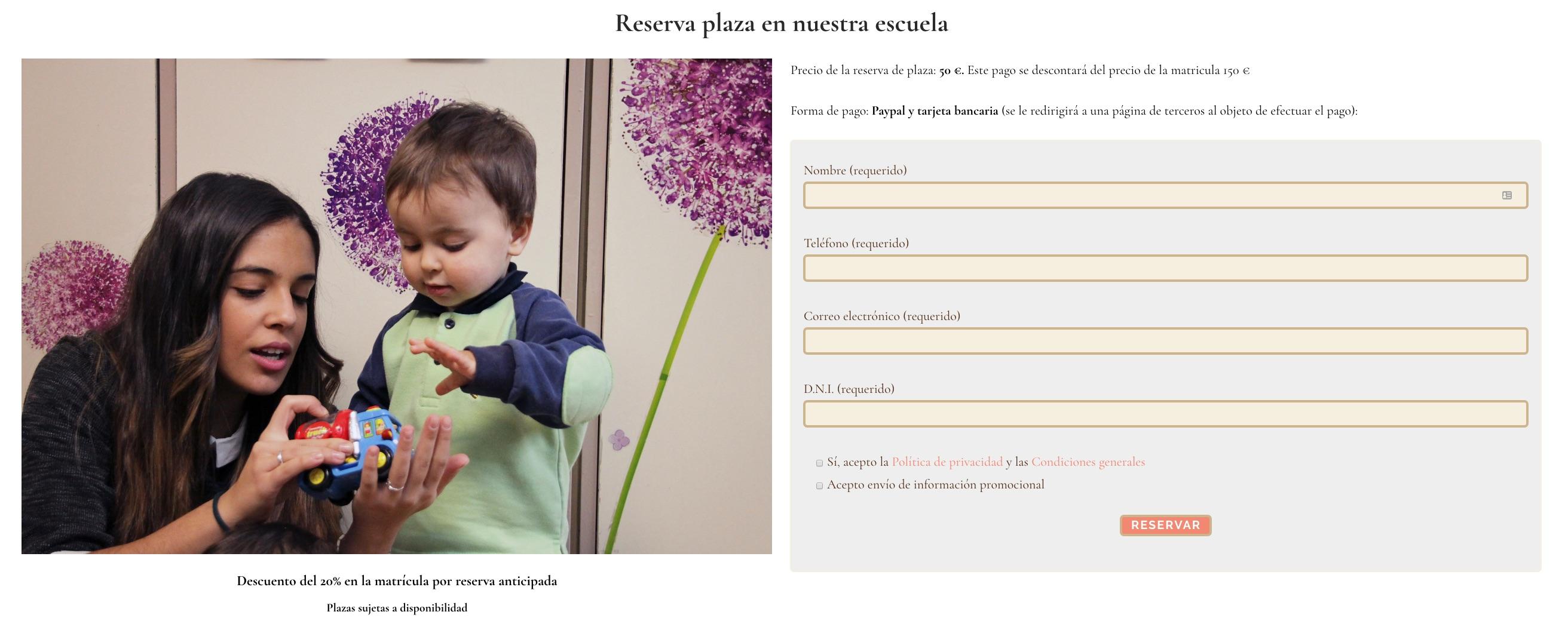 escuela-infantil-reservas Comment créer un blog pour une école maternelle