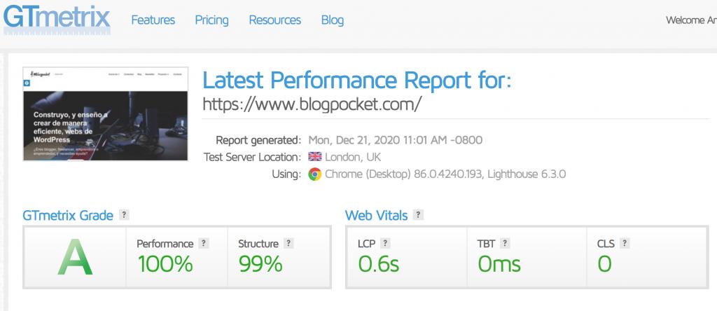 gtmetrix-blogpocket-dic-2020-1024x444 Cómo optimizar WordPress paso a paso - Guía completa