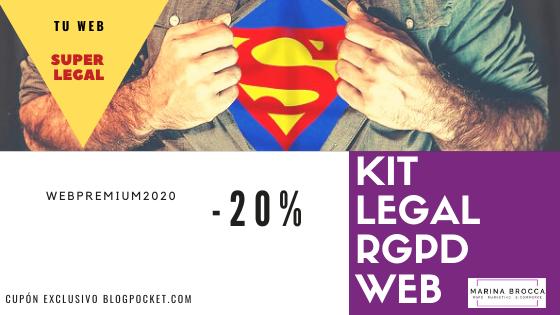CUPON-KITS-LEGALES-MARINA-BROCCA Adapta tu sitio web al RGPD tú mismo y ahora con los Kits legales de Marina Brocca y el curso TecnicoRGPD