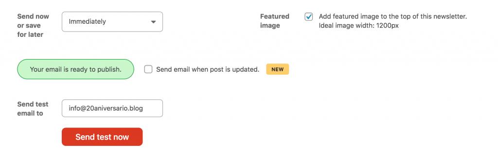 configuracion-envio-gutenberg-blue-1-1024x328 Cómo publicar una newsletter desde el editor de bloques de WordPress, aka Gutenberg