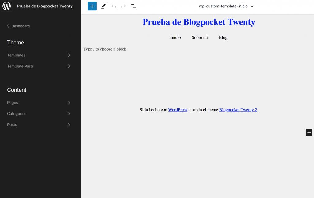 BLOGPOCKET-20-3-1024x646 Blogpocket Twenty 2.0: cómo probar la Edición del Sitio Completo (FSE, por sus siglas en inglés)