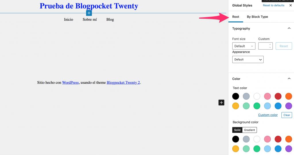 BLOGPOCKET-20-8-1024x541 Blogpocket Twenty 2.0: cómo probar la Edición del Sitio Completo (FSE, por sus siglas en inglés)