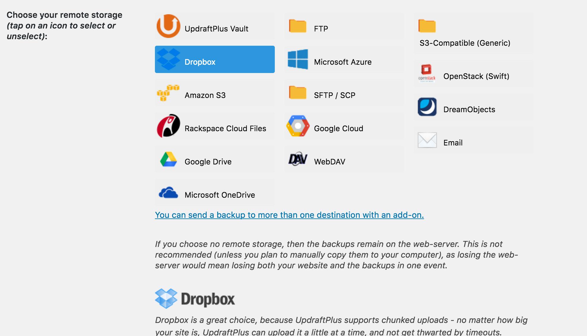 UpdraftPlus-2 La guía definitiva para clonar WordPress