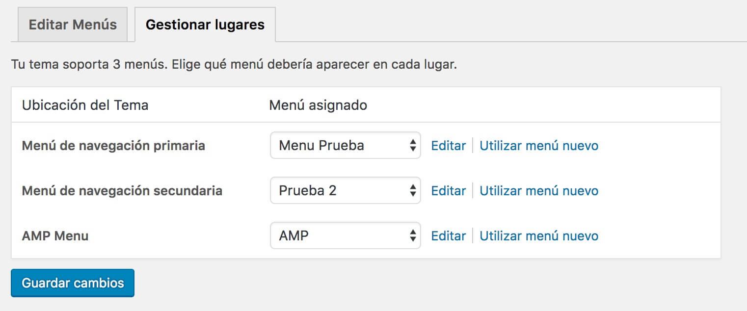 amp-menu Cómo configurar Google AMP para un blog de WordPress