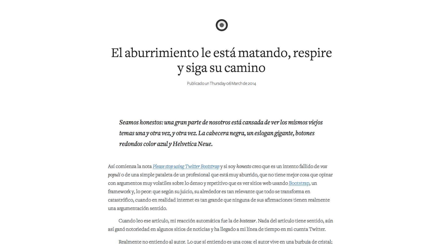 Crear un blog gratis - ejemplo de blog simple: Minid.net