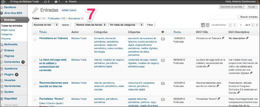 wp-como-publicar-posts-4 Qué es el dashboard de WordPress y cómo publicar contenidos